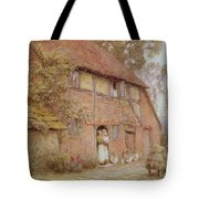 The Cottage With Beehives Tote Bag by Helen Allingham