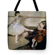 The Dance Lesson Tote Bag by Edgar Degas