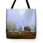 The Day After Armageddon At The San Francisco Zoo Tote Bag by Wingsdomain Art and Photography