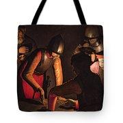The Denial Of Saint Peter Tote Bag by Georges De La Tour