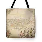 The Dog Fight Tote Bag by Thomas Rowlandson