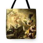 The Dream Of Saint Joseph Tote Bag by Luca Giordano