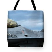 The F-16 Aircraft Of The Belgian Army Tote Bag by Luc De Jaeger