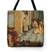 The Favourites Of Emperor Honorius Tote Bag by John William Waterhouse