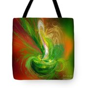 The Feathering Teacup Tote Bag by Andee Design