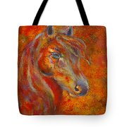The Fire Of Passion Tote Bag by The Art With A Heart By Charlotte Phillips
