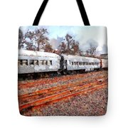 The Golden Age Of Railroads . 7d115623 Tote Bag by Wingsdomain Art and Photography