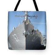 The Guided Missile Destroyer Uss Cole Tote Bag by Stocktrek Images