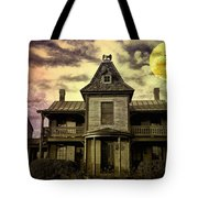 The Haunted Mansion Tote Bag by Bill Cannon