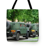 The Iveco Lmv Of The Belgian Army Tote Bag by Luc De Jaeger