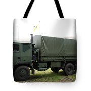 The Iveco M250 8 Ton Truck Used Tote Bag by Luc De Jaeger
