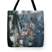 The Last Slave Sale Tote Bag by Photo Researchers
