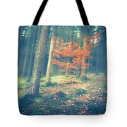 The Little Red Tree - Vintage Tote Bag by Hannes Cmarits