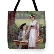 The Lord Of Burleigh Tote Bag by Edmund Blair Leighton