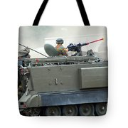 The M113 Tracked Infantry Vehicle Tote Bag by Luc De Jaeger