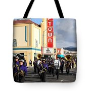 The Marching Band at The Uptown Theater in Napa California . 7D8925 Tote Bag by Wingsdomain Art and Photography