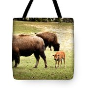 The Mighty Bison Tote Bag by Ellen Heaverlo