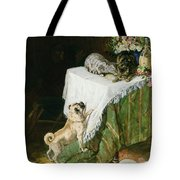 The Mischievous Tabbies Tote Bag by Clemence Nielssen