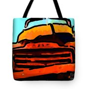 The Old Jalopy . 7d8396 . Color Sketch Style Tote Bag by Wingsdomain Art and Photography