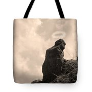 The Praying Monk With Halo - Camelback Mountain Tote Bag by James BO  Insogna
