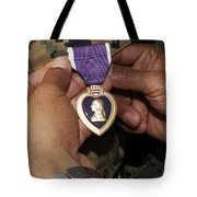 The Purple Heart Award Tote Bag by Stocktrek Images