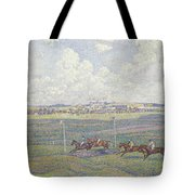 The Racecourse At Boulogne-sur-mer Tote Bag by Theo van Rysselberghe