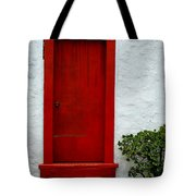 The Red Door Tote Bag by Karon Melillo DeVega