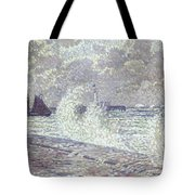 The Sea During Equinox Boulogne-sur-mer Tote Bag by Theo van Rysselberghe