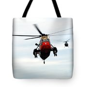 The Sea King Helicopter And The Agusta Tote Bag by Luc De Jaeger