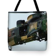 The Sea King Helicopter In Use Tote Bag by Luc De Jaeger