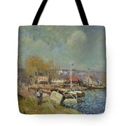 The Seine At Port-marly Tote Bag by Alfred Sisley