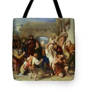 The Seven Ages Of Man Tote Bag by William Mulready