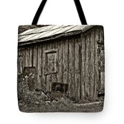 The Shed Sepia Tote Bag by Steve Harrington