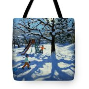 The Slide In Winter Tote Bag by Andrew Macara