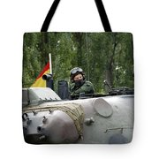 The Turret Of The Leopard 1a5 Mbt Tote Bag by Luc De Jaeger