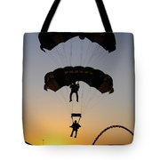 The U.s. Army Golden Knights Perform An Tote Bag by Stocktrek Images
