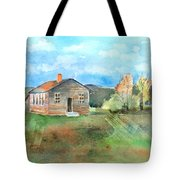 The Vacant Schoolhouse Tote Bag by Arline Wagner
