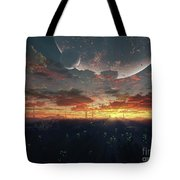The View From An Alien Moon Towards Tote Bag by Brian Christensen