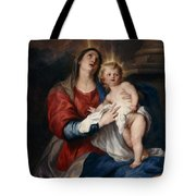 The Virgin And Child Tote Bag by Sir Anthony Van Dyck