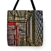 The West Virginia State Penitentiary Cell Hallway Tote Bag by Dan Friend