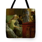 The Wine Shop Tote Bag by Sir Lawrence Alma-Tadema