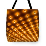 Theater Marquee Lights In Rows Tote Bag by Paul Velgos