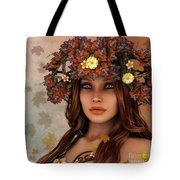 They Call Her Autumn Tote Bag by Jutta Maria Pusl