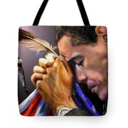 They Shall Mount Up with Wings Like Eagles -  President Obama  Tote Bag by Reggie Duffie