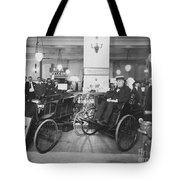 Thomas Edison In Quadricycle Tote Bag by Photo Researchers
