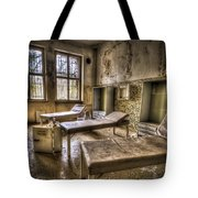 Three Beds Horror Tote Bag by Nathan Wright