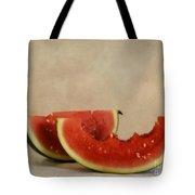 Three Bites Of Summer Tote Bag by Priska Wettstein