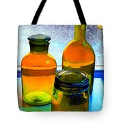 Three Bottles In Window Tote Bag by Dale   Ford