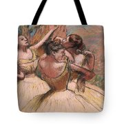 Three Dancers Tote Bag by Edgar Degas