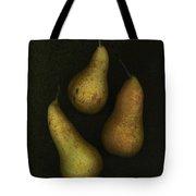 Three Golden Pears Tote Bag by Deddeda